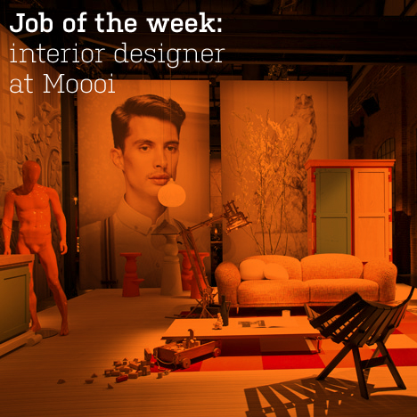 Job of the week: interior designer at Moooi