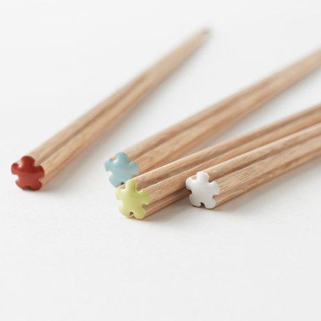 Nendo chopsticks for Hashikura Matsukan