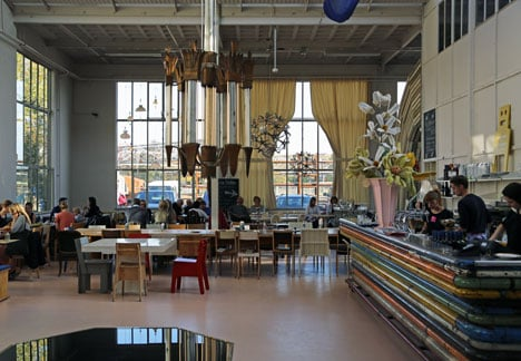 Piet Hein Eek's restaurant at his studio in Eindhoven