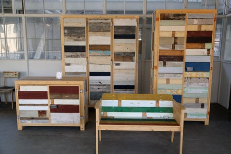 Scrap wood furniture by Piet Hein Eek