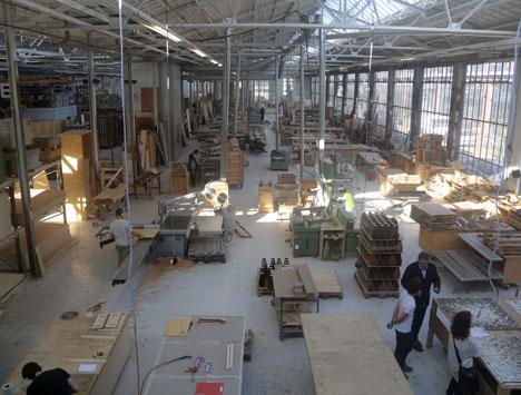 Piet Hein Eek's factory in Eindhoven