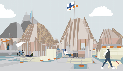 RIBA President's Medals Student Awards - Helsinki Archipelago Town Hall by Ness Lafoy