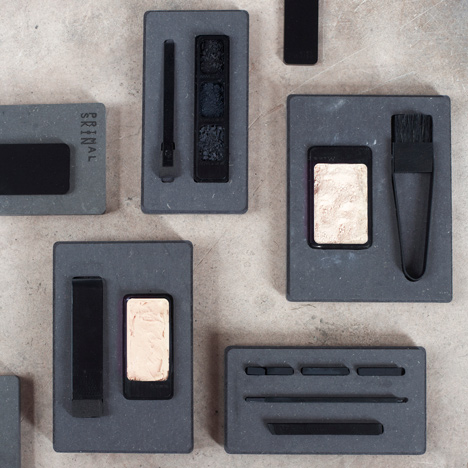 Primal Skin makeup collection designed for men by Annemiek van der Beek