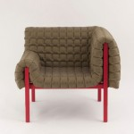 Inga Sempé unveils Ruché armchair covered with a quilt for Ligne Roset