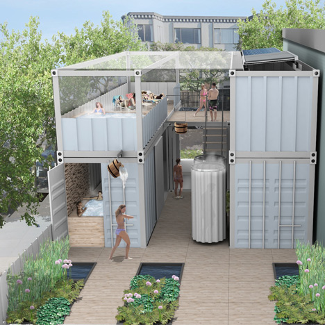 Ecological urban spa made from shipping containers planned for San Francisco