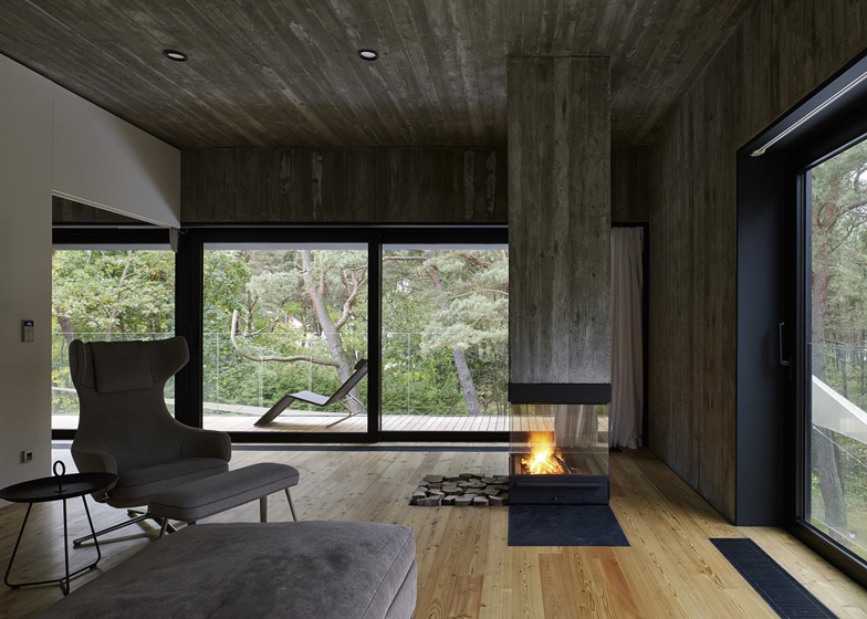 Delightful 4 Of 10; Timber Clad Seaside House With A Grainy Concrete Interior By Ultra  Architects
