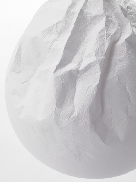 Semi wrinkle wash lamp by Nendo