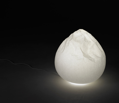 Semi wrinkle wash lamp by Nendo