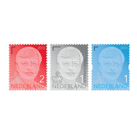 Studio Job designs a postage stamp for the new Dutch king