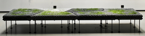 Planted wall concept of Subterranean Concrete Orgy by Studioverket