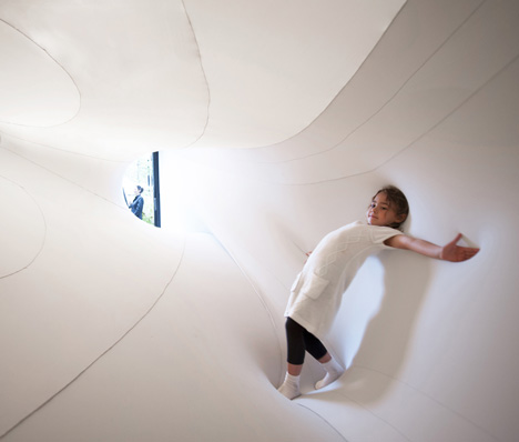 Suspense immersive fabric installation by Sophia Chang