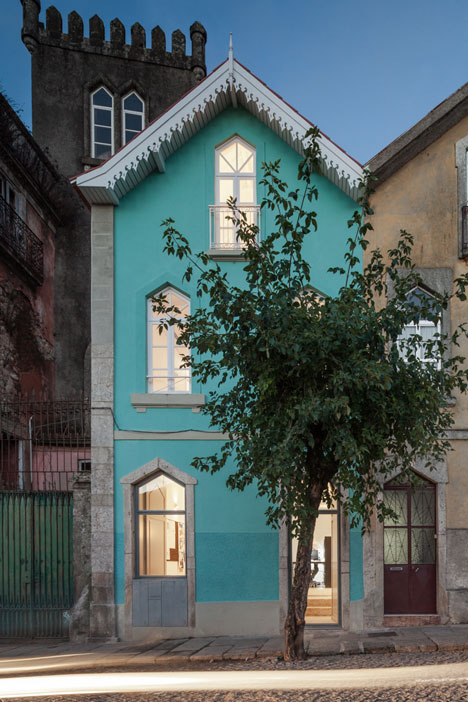 Portuguese townhouse meets Alpine chalet at this renovation by Tiago do Vale Arquitectos