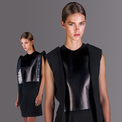 Fashion collection features solar panels for charging a mobile phone