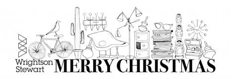 Wrightson Stewart christmas card