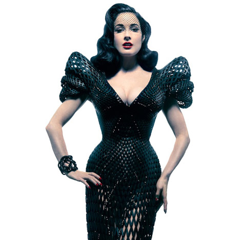 3D printed dress Dita von Teese