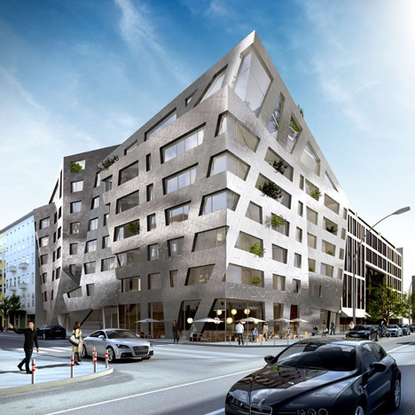 Daniel Libeskind designs metallic apartment block for Berlin's Chausseestrasse