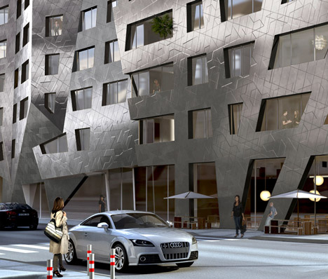 Daniel Libeskind designs metallic apartment block for Berlin's Chausseestrasse