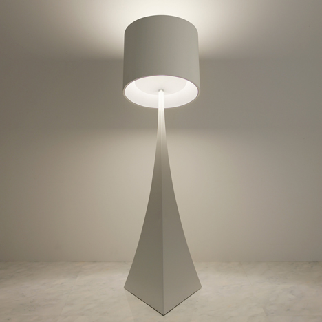 Floor lamp that tilts backwards by Mifune Design Studio