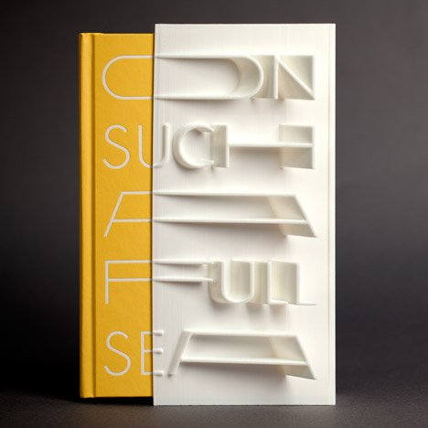 3D-printed book cover of On Such a Full Sea by Chang-rae Lee created with a MakerBot