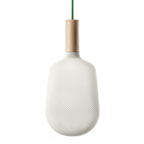 3D-printed shades diffuse light from Afillia lamps by Alessandro Zambelli for .exnovo