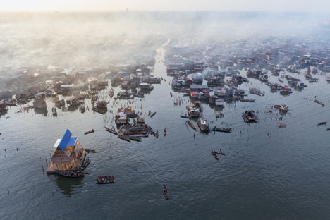 Floating School by Kunle Adeymi in Lagos, Nigeria - 52 Weeks, 52 CIties, by Iwan Baan