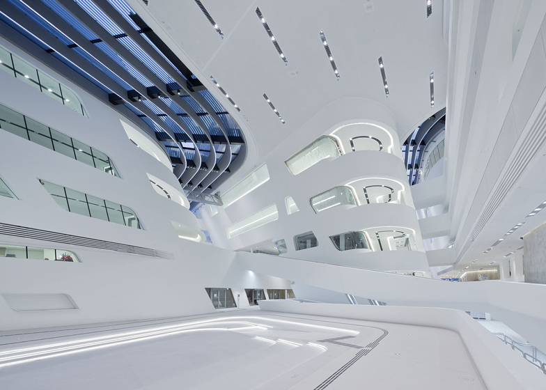 Zaha Hadid's Library and Learning Centre at the University of Economics and Business, Vienna, Austria