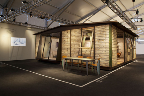 8x8 Demountable House by Jean Prouve, presented by Galerie Patrick Seguin at Design Miami 2013