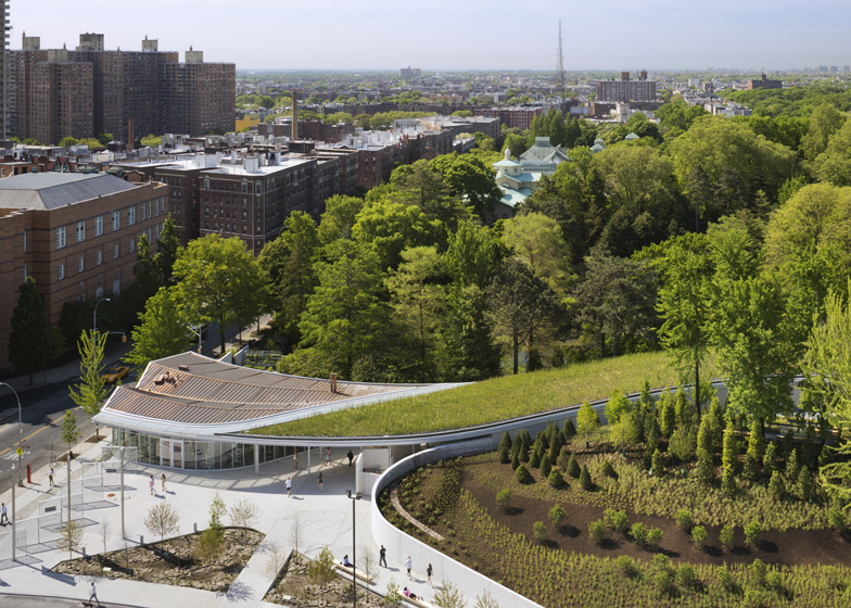 Brooklyn Botanic Garden Visitor Center by Weiss/Manfredi