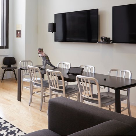"Airbnb removes ""knockoff"" Navy Chairs from new headquarters"