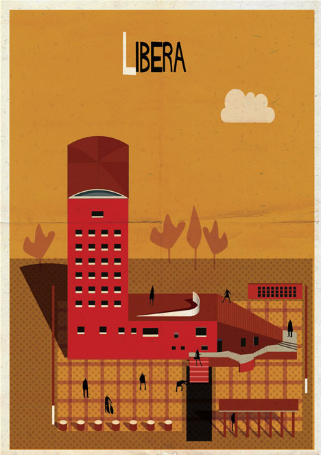 Archibet alphabet of architects by Federico Babina