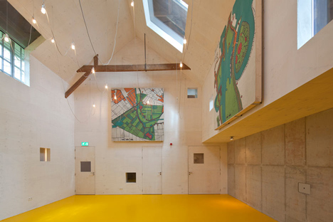 Basement excavation and Corian-clad gallery by Bureau SLA revive military building