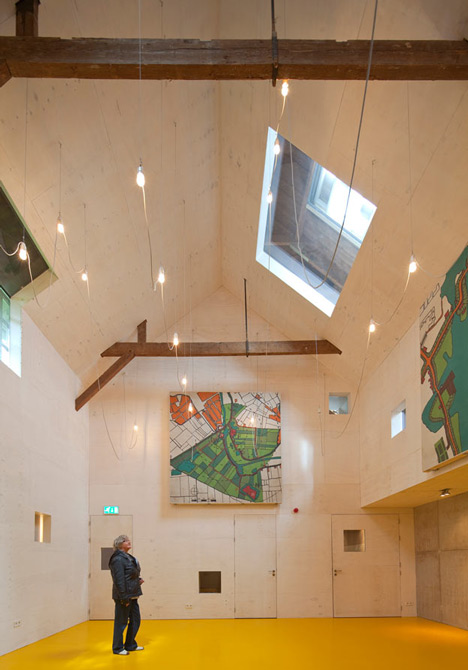 Basement excavation and Corian-clad gallery by Bureau SLA revive military building