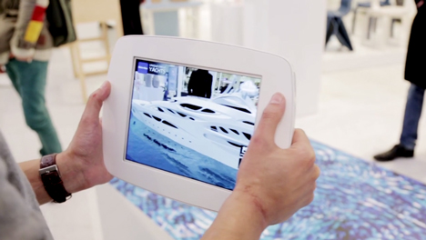 Augmented reality demonstration of Zaha Hadid's superyacht model