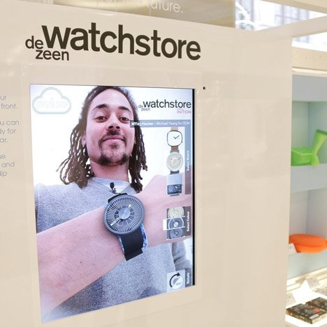 Augmented reality demonstratition at Dezeen's Imagine Shop at Selfridges