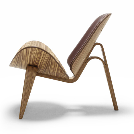 Shell chair designed by Hans J. Wegner for Carl Hansen & Son in 1963