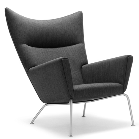 CH445 Wing chair designed by Hans J. Wegner for Carl Hansen and Son in 1960