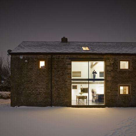 Old Yorkshire barn converted into a&ltbr /&gt modern home by Snook Architects