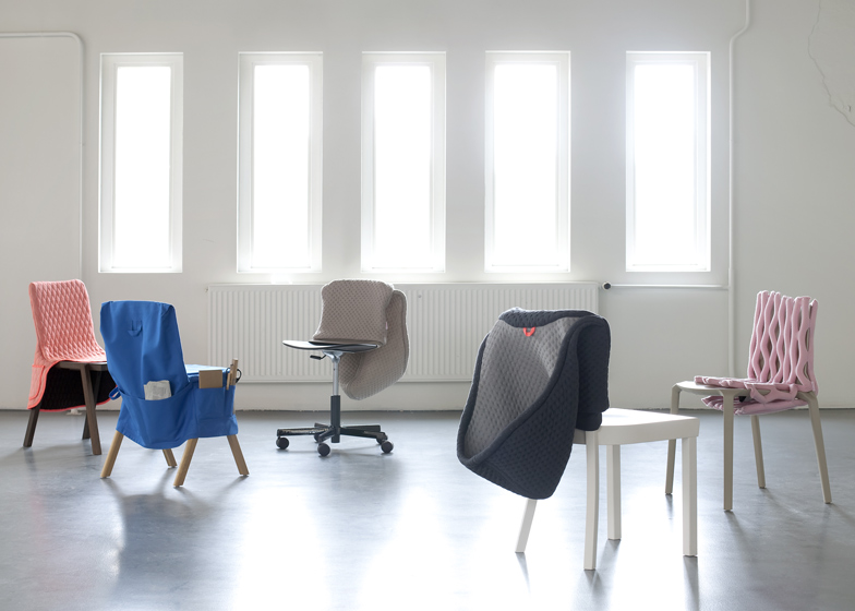 Clothing designed for chairs by Bernotat and Co