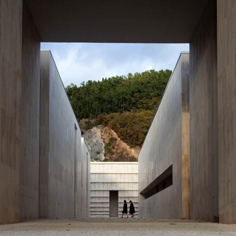 Concrete necropolis by Andrea Dragoni contains public plazas and site-specific artworks
