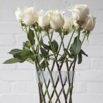 Crown Vase by Lambert Rainville creates freestanding flower arrangements
