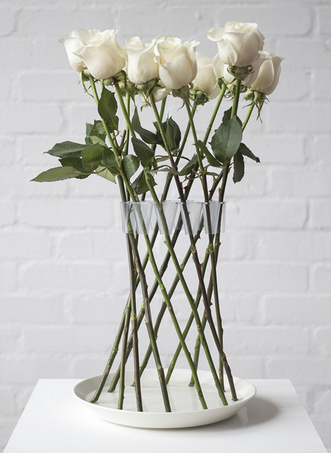 Crown Vase by Lambert Rainville creates freestanding flower arrangements