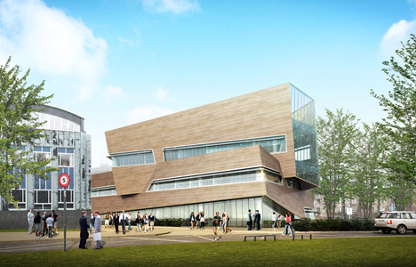 Daniel Libeskind unveils timber-clad physics centre for Durham University
