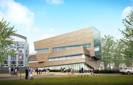 Daniel Libeskind unveils timber-clad physics centre for Durham University