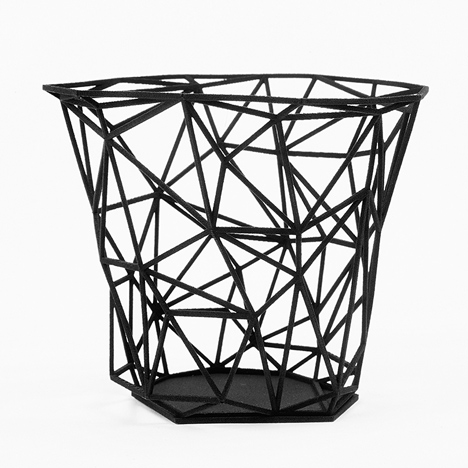 Dark Side collection of 3D printed vessels by Michael Malapert
