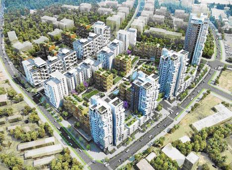 David Adjaye designs office campus for new satellite town in Uganda