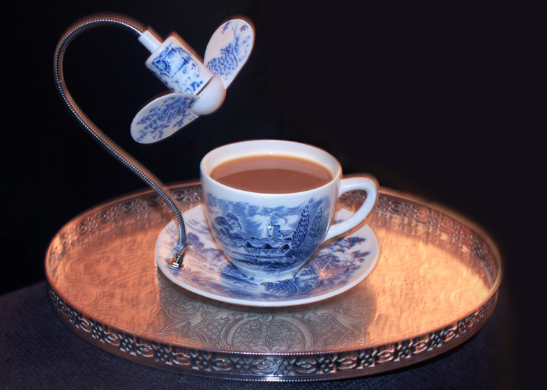 Tea Cup with Cooling Fan