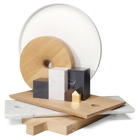 e15 unveils wood and marble<br /> home accessories collection