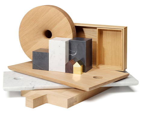 E15 unveils wood and marble home accessory collection