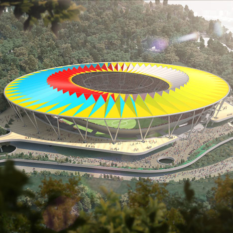 Football stadium by Rogers Stirk Harbour + Partners planned for Venezuela