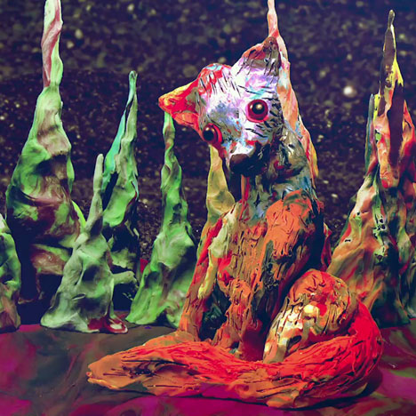 Stop-motion music video by Rafael Bonilla for Glass Animals' single Exxus